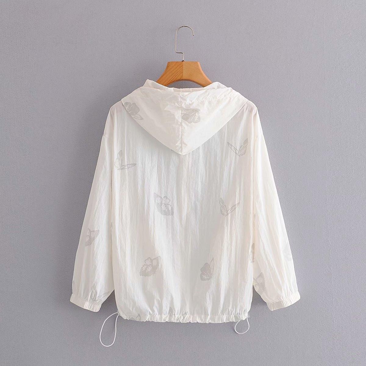 B93KJ de Q0976-coréen femmes nouveau short papillon imprimé 2020 vêtements d'été et le papillon à capuchon costume crème solaire short pour les femmes