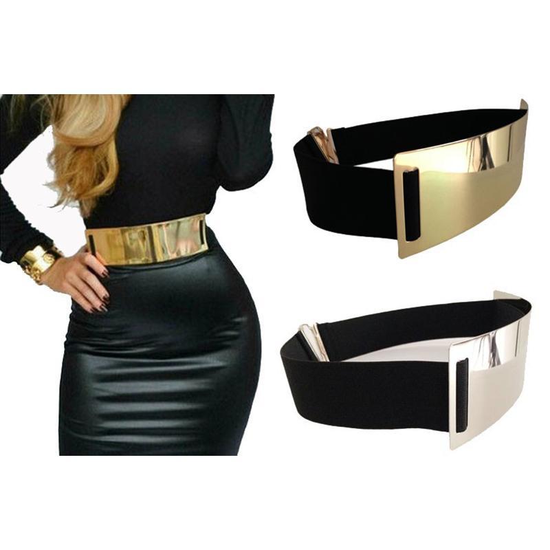 أحزمة مصمم الساخنة للمرأة الذهب الفضة العلامة التجارية أنيق مطاطا Ceinture فام 5 اللون حزام السيدات ملابس الإكسسوار BG-004 C19041501