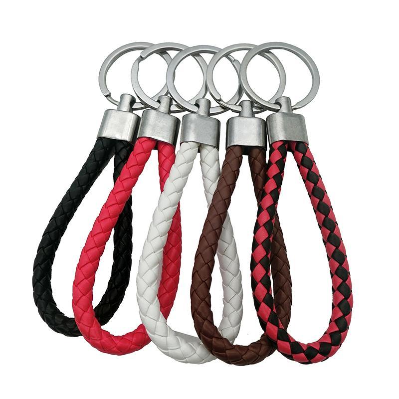 Designer Keyring Cool Metal Stainless Steel Car Key Ring For Chevrolet Leather Keychain Key Ring Chain For HONDA KIA Citroen