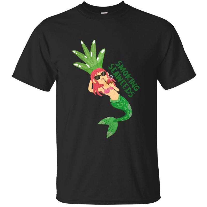 moda respirável sereia tshirt 2020 camiseta Interessante gola redonda masculina Euro Verão Tamanho S-5XL Kawaii HipHop Top