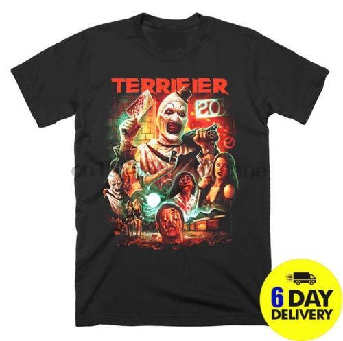 Terrifier homme de la T-shirt d'horreur Halloween Cartoon T-shirt homme Livraison gratuite T-shirt drôle unisexe Hauts Mode