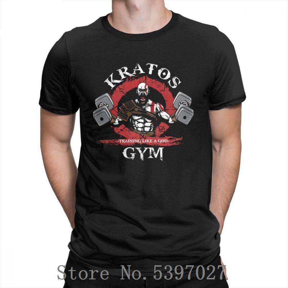 God Of War Kratos Gym Homme T-shirt style simple à manches courtes T Purifié shirt 100% coton col rond T-shirt Tops Impression