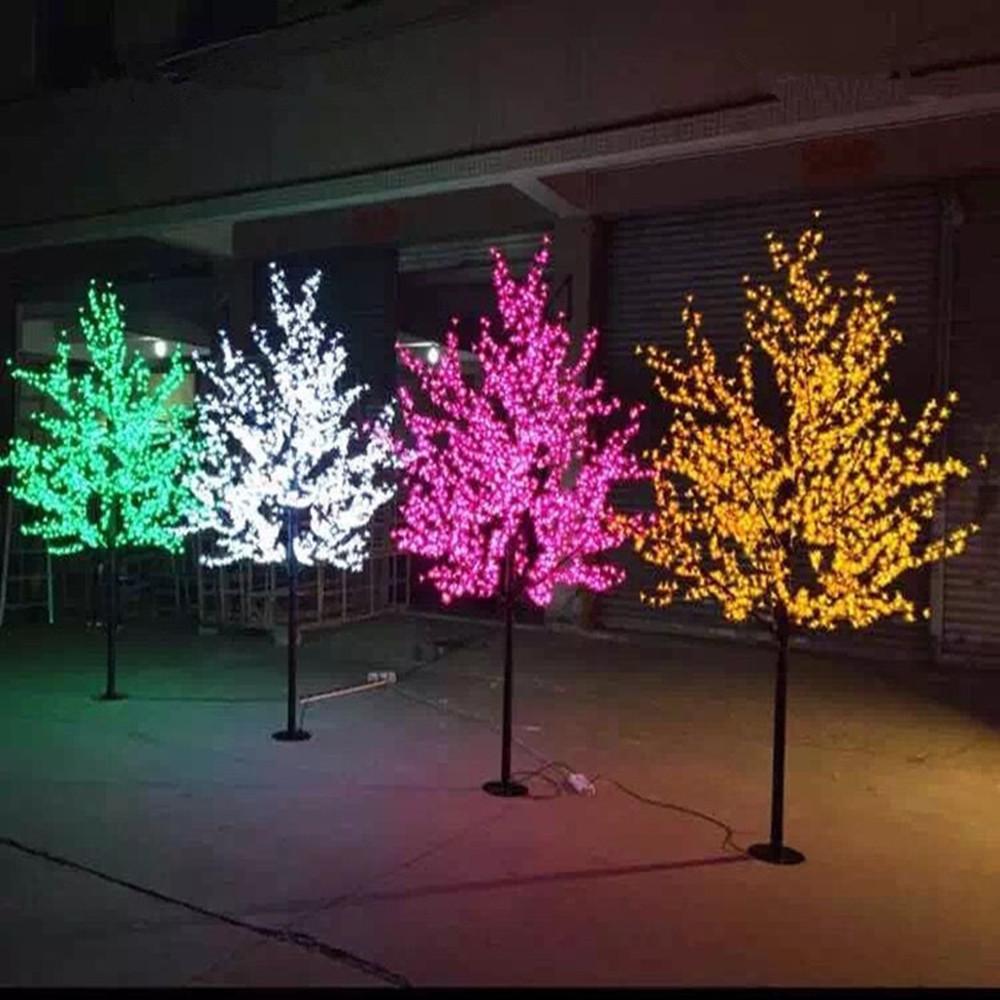 LED jardín del paisaje del árbol de melocotón simulación lámpara de 1,5-3 metros / 480-2304 árbol de Navidad impermeable al aire libre luces LED decoración del jardín