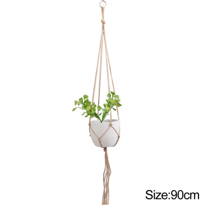 Retro Corda Macrame Planta Hanger Flor Planta de vaso Titular pendurados corda Cesta Handmade Belas cordão Net