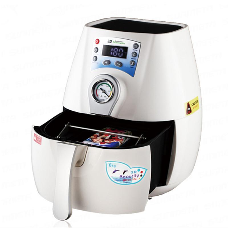 1300W الأبيض فراغ آلة الصحافة الحرارة 3D البسيطة التسامي الحرارة الصحافة طابعة أكواب حالة الهاتف