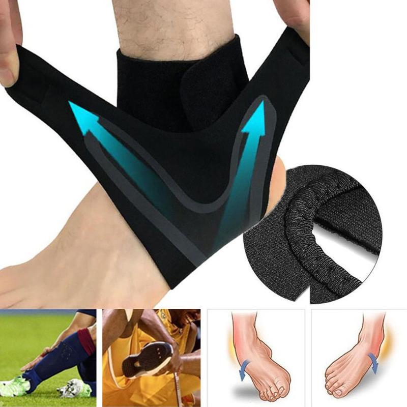 Подставка для лодыжки 1 Начальная рукава Упругость Brace Guard Foot Спорт Вес Футбол Баскетбол Носок Регулируемые инструменты