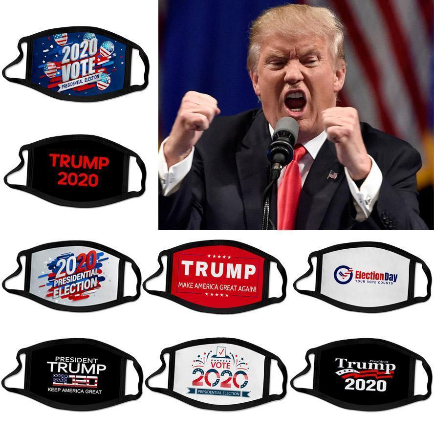 2020 Trump Hot eleição presidencial designer de campanha máscara facial reutilizáveis máscaras preto Trump pri