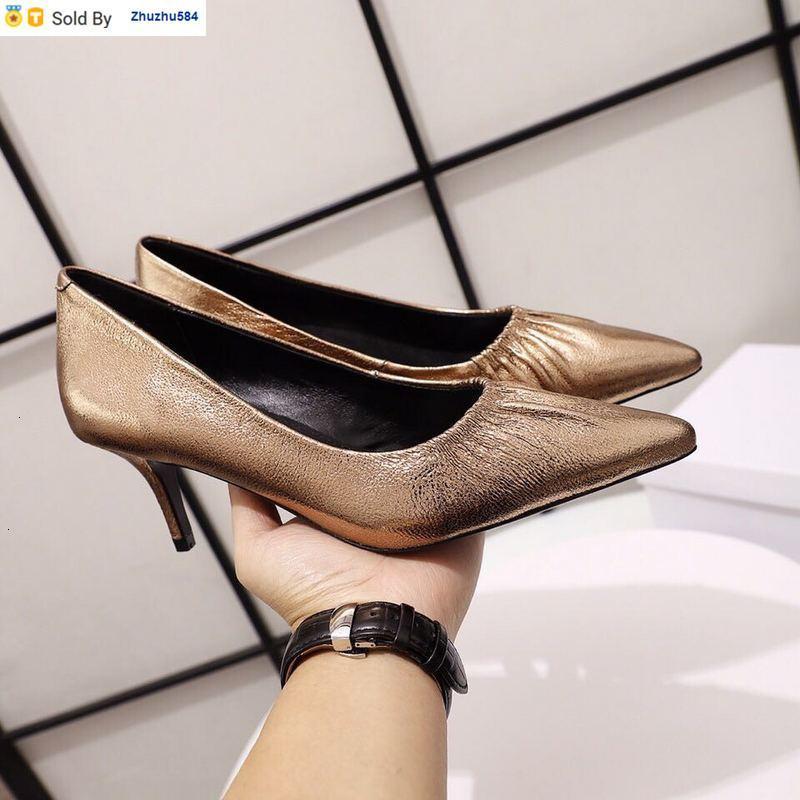 45YH 206011 Damenschuhe Metall spitze Zehe hohe Absätze der Frauen-Absatz Pantoffel Mules Slides Pumpen-Schuh-Turnschuh-Kleid-Schuhe
