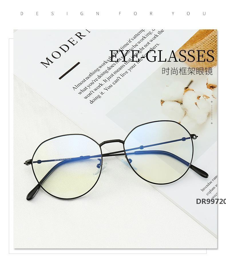 Fashion Quiet style Unisex Retro Harajuku Cat Eye Frame Clear Lens Glasses Mens Womens Optical glasses Reading Glass 20070637ZDR99720