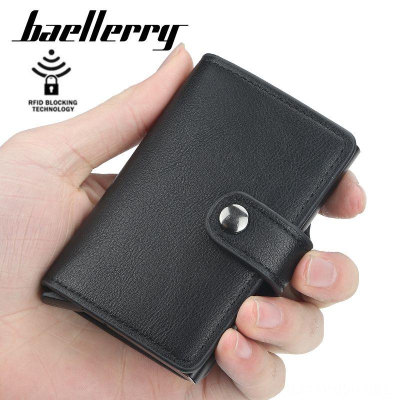 supporto in alluminio copertura della carta di copertura in metallo borsa cassa di carta uomini baellerry di bagRFID automatica banca elastica