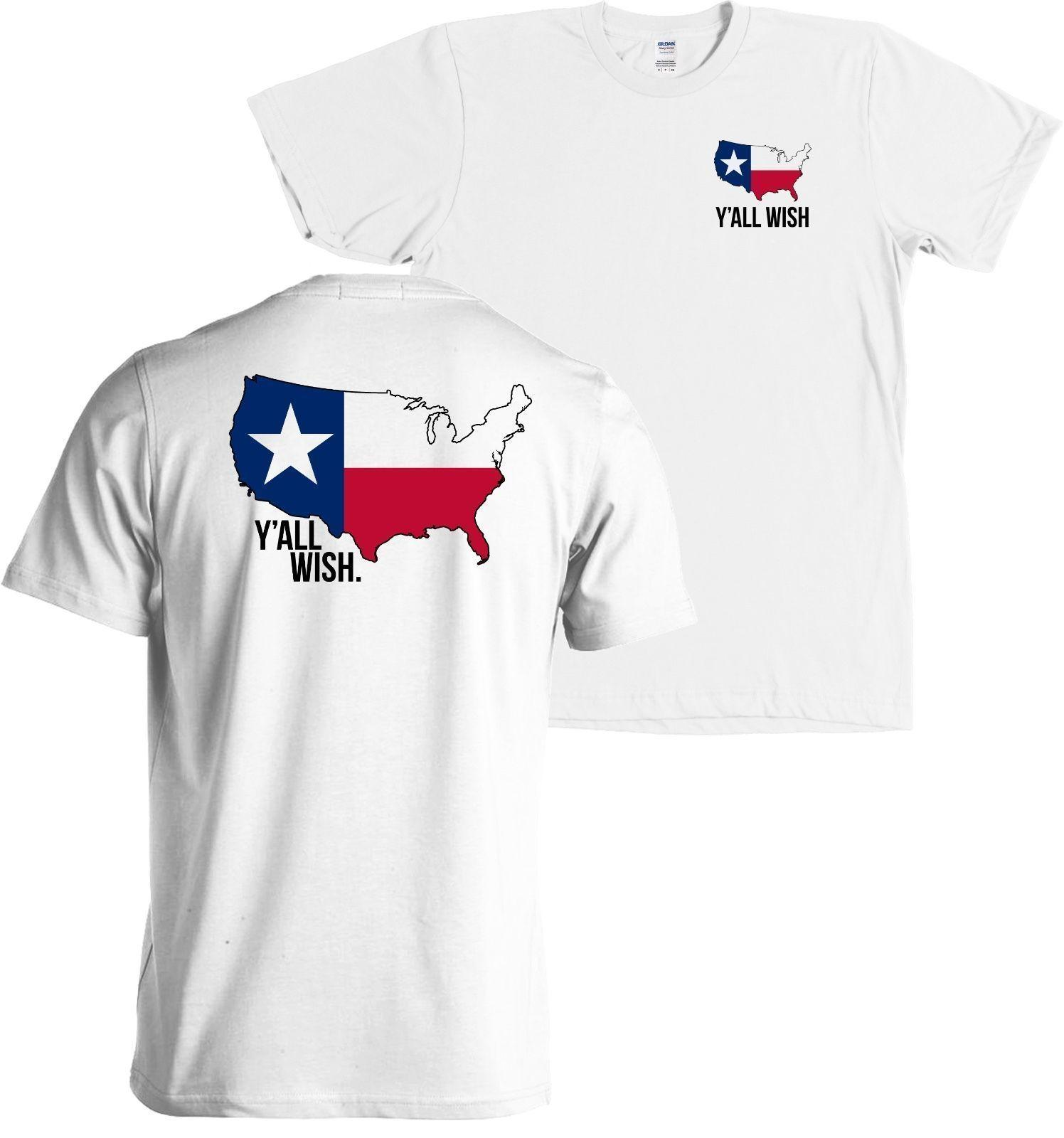 2020 En Yeni Harf Baskı Karikatür Y Tüm İstek Texas Amerikan Harita Anahat Toptan T Gömlek