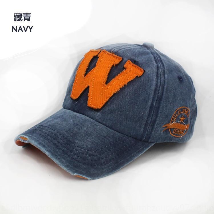 Новая мода корейский стиль мужской и защитный колпачок бейсбол ВС Солнцезащитный бейсбола женщин W письмо шляпу сделал старый колпачок