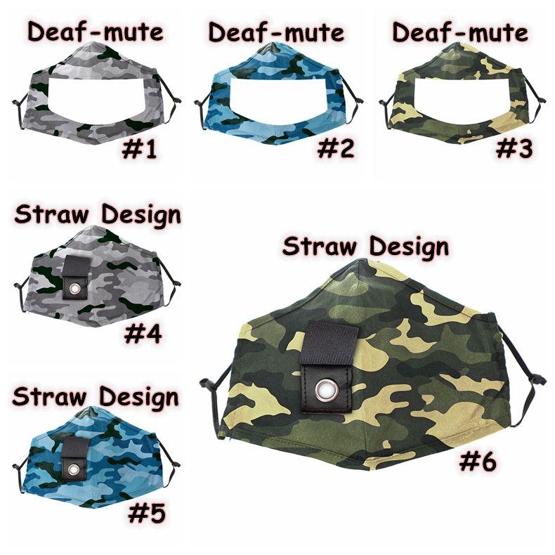 Камуфляж глухонемой Маски ПЭТ Lip Mask противотуманно Прозрачные маски Хлопок маска Visible Рот Face Cover Стро Дизайн маски для лица CCA12359