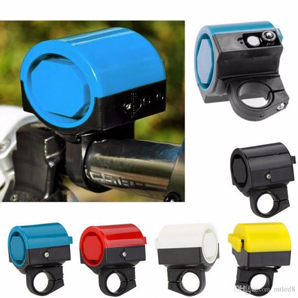 Ultra-loud MTB Road Bicycle Bike Electronic Bell Horn Cycling Hooter Siren Accessory Blue/Yellow/Black/Red/White