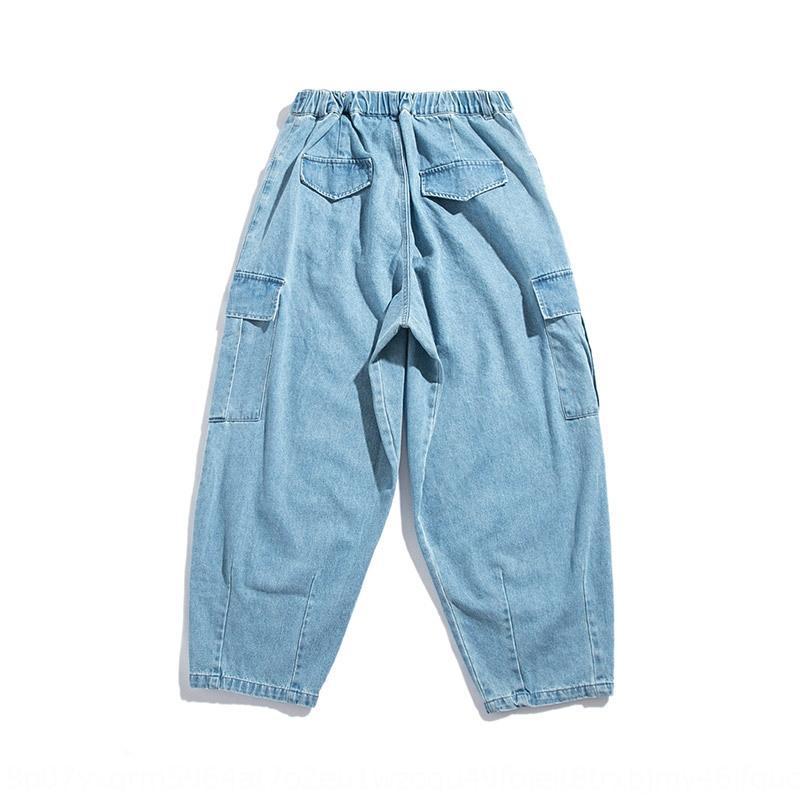 0981Q Xinchen 2020 modische Männer und Jeans lässig Sport Ning gewaschene Jeans der Männer gerade Allgleiches lose Hosen