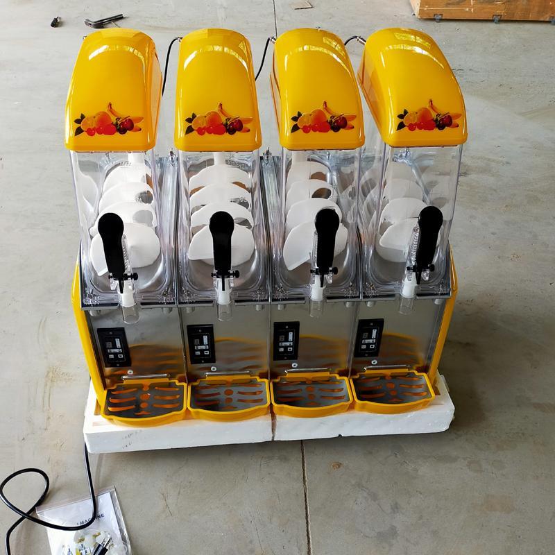 Commercial four cylinder Snow Melting machine Slush Cold Drink Maker Smoothies Granita Machine Sand ice machine