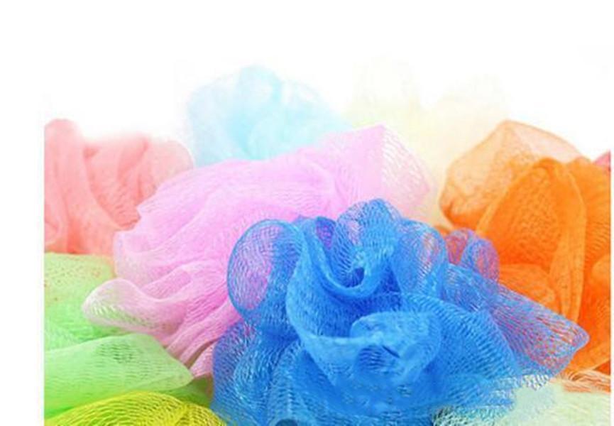 Mini Bath Shower Body Exfoliate Puff Sponge Mesh Net Ball Bath Sponge Accessories random color DHL