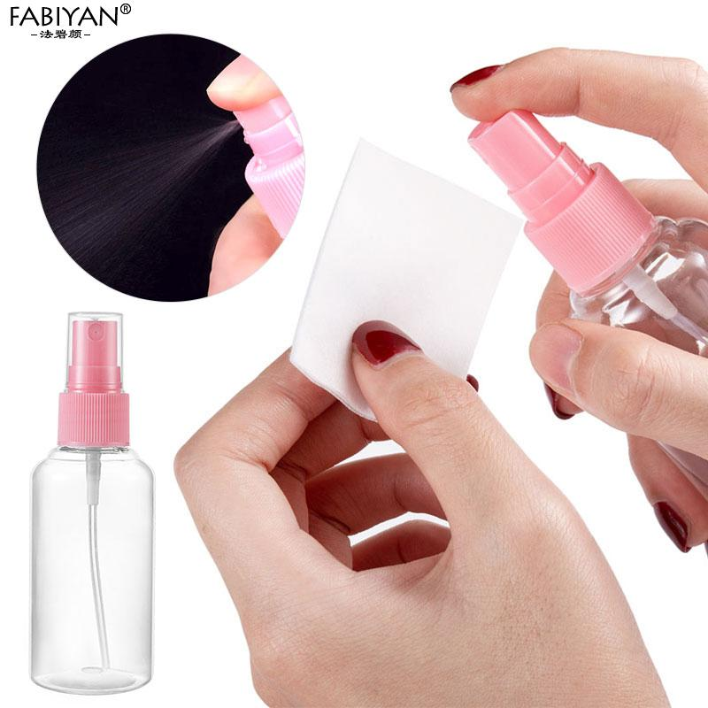 50ML Mini Plastic Transparent Small Empty Spray Bottle Water Make up Skin care Nail Art Manicure Tools 1/2/5 Pcs