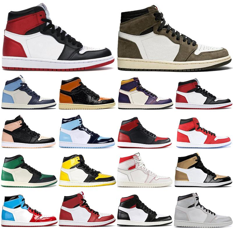 Basketball Shoes 1 1s Running Shoes PHANTOM Yellow Toe Chicago With Free Socks Women Mens Trainers Runner Athletics Outdoor Sport Sneaker