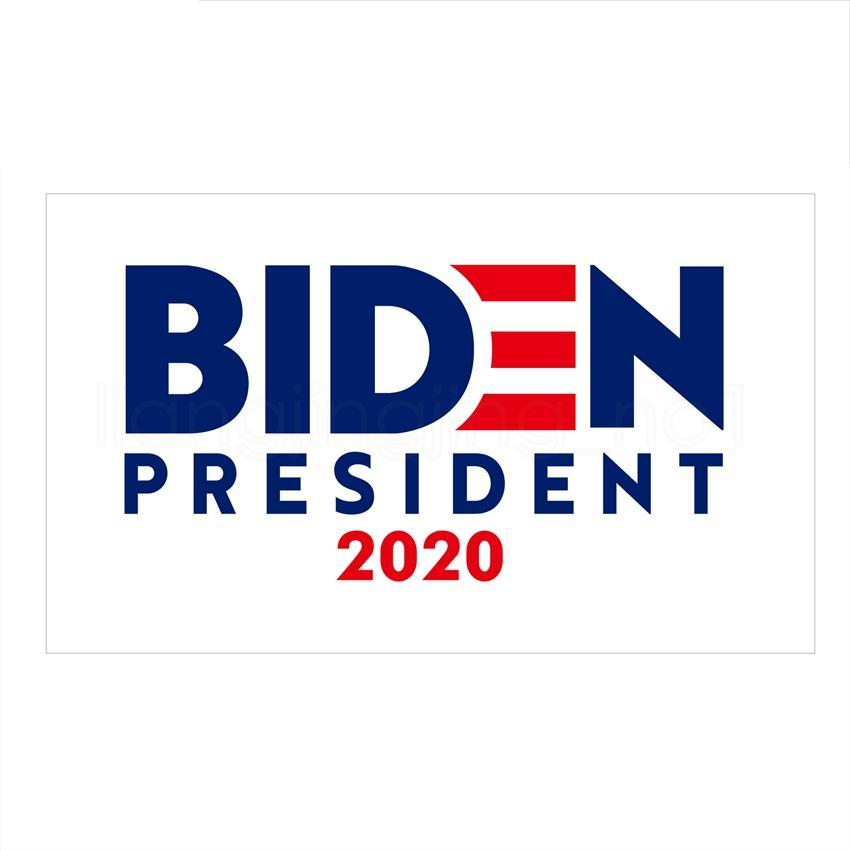 90 * 150cm Biden bayrağı 2020 Biden ABD başkan seçim bayrağı parti desteği dekor malzemeleri mektup baskılı afiş bayrak FFA4046-4