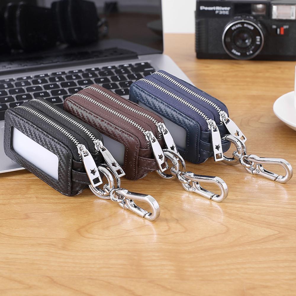 حقيبة رئيسية الإناث جلد طبيعي العالمي نموذج سيارة التحكم عن بعد الأعمال التجارية الرجال مفاتيح أكياس المفاتيح
