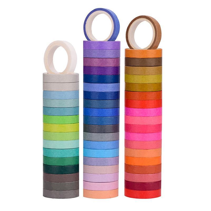 60pcs do arco-íris Cor do Papel Washi Set fita de 8mm 15mm Lace Decoração Masking Tapes Jornal Diário Album Stickers presente A6067
