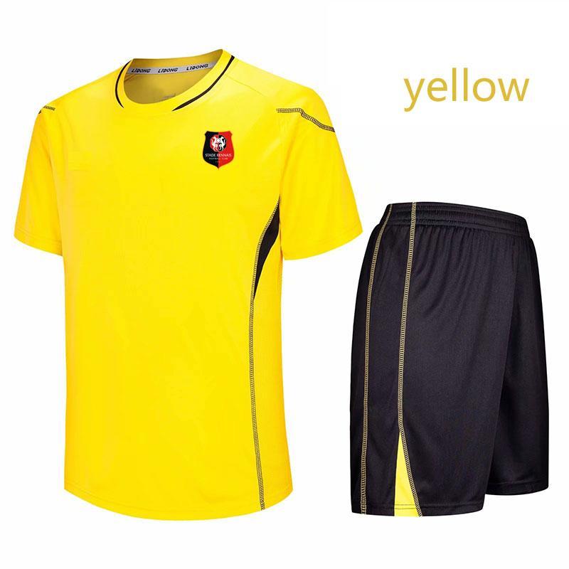 la ropa de entrenamiento de primavera y verano de fútbol Stade Rennais sección corta se pueden personalizar los deportes de los hombres de bricolaje formación ropa de correr la ropa