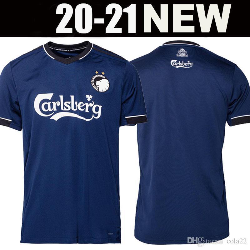 20 21 Dänische Kopenhagen Fussball Jersey 2020 2021 Away Navy Blue Football Hemden Fischer Sigurdsson Zeca N'Doye Skov Uniform Kopenhagen S