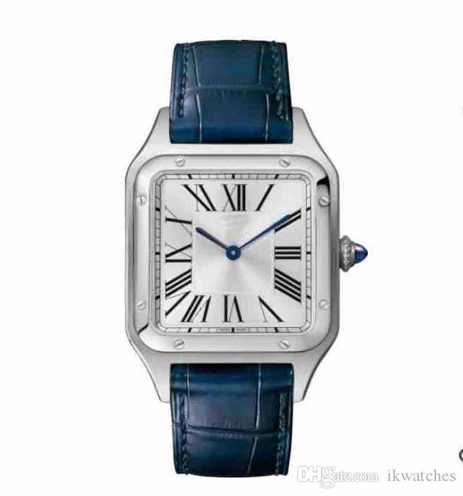 뜨거운 판매 남성 여성 패션 스틸 케이스 화이트 다이얼 시계 석영 드레스는 가죽 스트랩 078 시계