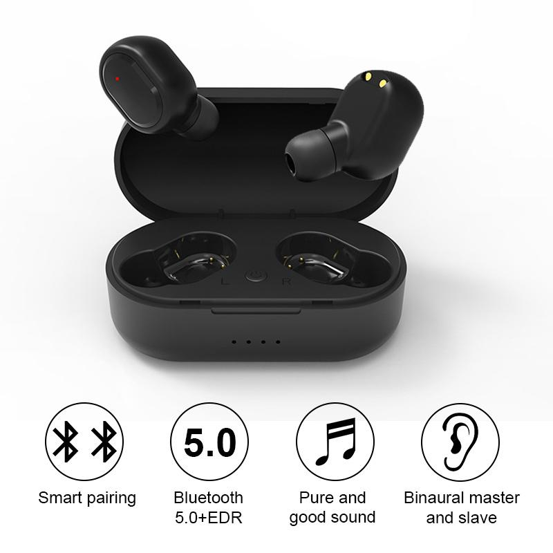 Moda Bluetooth 5.0 Auriculares TWSES Mini Música inalámbrica Auriculares Estéreo Deportes Impermeable Auriculares Auriculares Auriculares Caja de auriculares inalámbricos para Phon