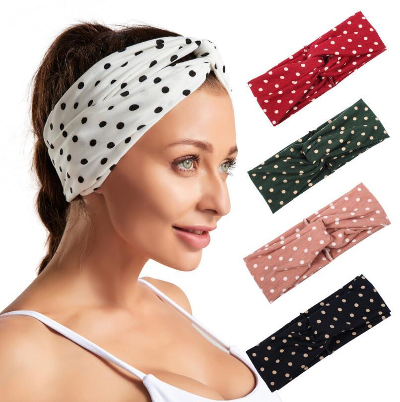 Mulheres gostosas Meninas Point Point Headbands por Hippie Runner Yoga Headband Andando exercício exercício fitness headwear