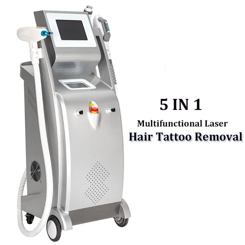 Multi-funcional Elight OPT SHR IPL máquina de remoção de cabelo IPL rejuvenescimento da pele remoção wrinke máquina da beleza 3000W Elight RF Nd Yag Laser