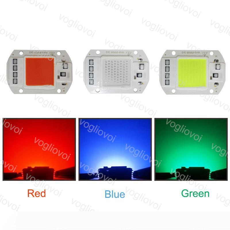 Işık Boncuk Mavi Yeşil Kırmızı 110V 220V 50W yüksek güç Chip Aydınlatma Aksesuarları Akıllı IC İçin Açık Projektör HighBay Spotlight EUB