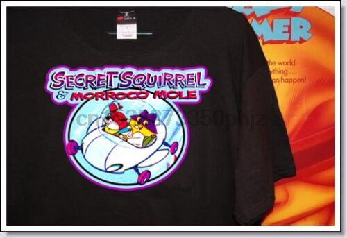 60 dibujos animados clásicos Secret Squirrel Amp Marruecos Mole camisetas frescas anysize Anycolor unisex personalizado Orgullo ocasional de los hombres de moda