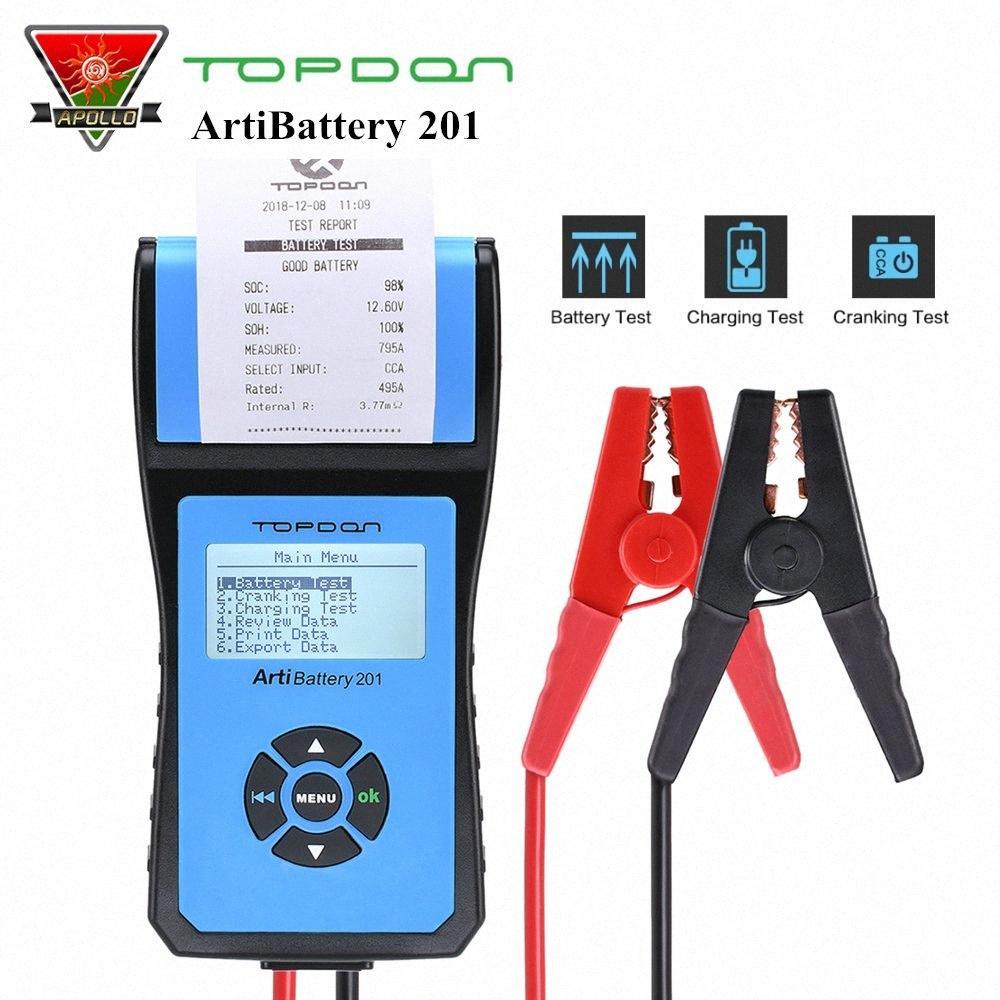 TOPDON ArtiBattery 201 AB201 Autobatterie Tester Cranking Batterielade Analyzer Test-Diagnose-Tool für 12V / 24V Car System IYJ5 #