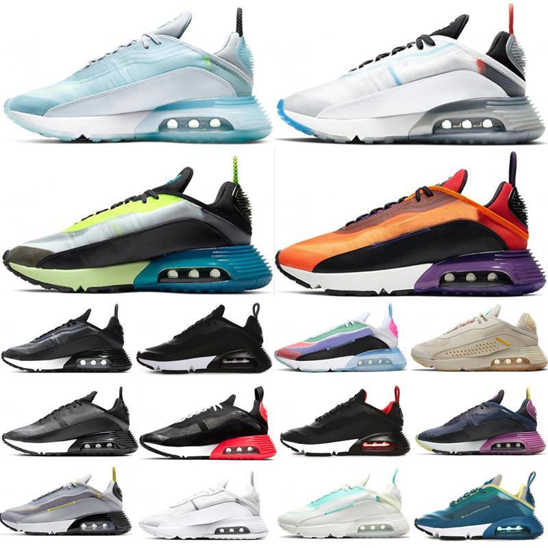 Zapatos para correr para hombre clásico de las zapatillas de deporte para mujer 2090 Pure Platinum Aurora Verde Naranja Fotón polvo Bred triples blancos negros entrenador deportivo