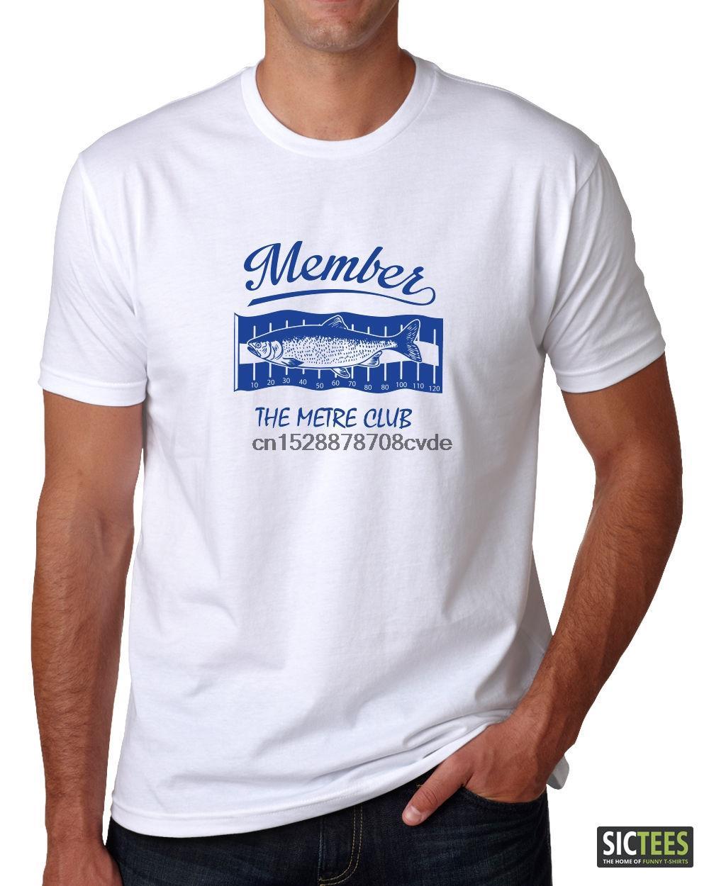 2019 Newest Men Funny New Fishs T-shirt Singlet Member The Metre Club jig heads soft plastics baits Tee Shirt