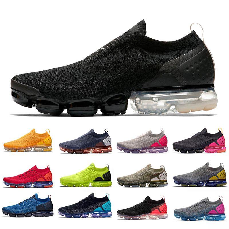 Nike Air Vapormax 2.0 Flyknit Vapor Max Schwarz Licht Creme Moc 2 Herren Laufschuhe Stricken 2.0 University Gold Sail Moon Turnschuhe Männer Frauen Sport Designer Sneakers