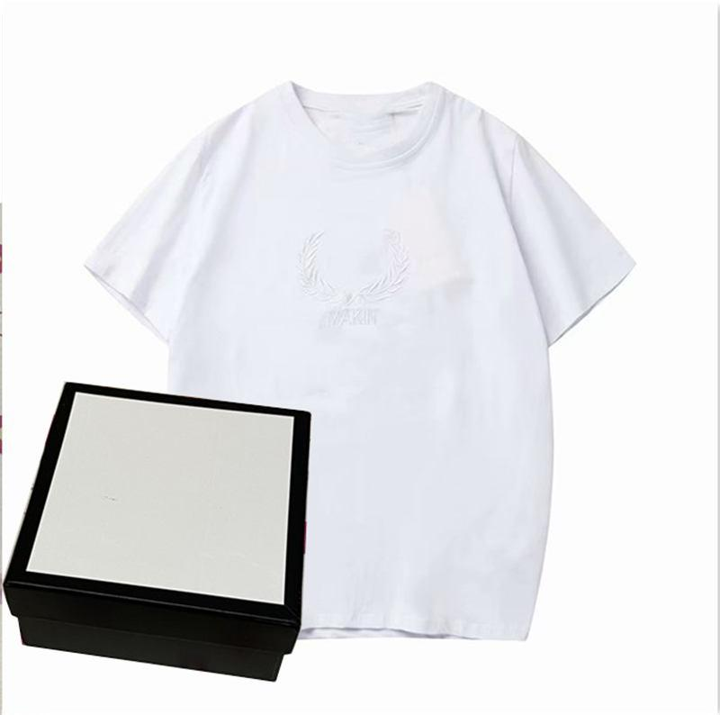 Erkekler Yaz Moda Desen Baskı Yuvarlak Yaka Kısa Kollu Unisex Womens T Gömlek Casual T Shirt Tees Tops