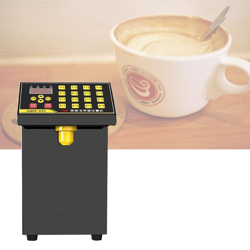 2020 ticari fruktoz makine 16 kantitatif Dijital görüntü çay, kahve dükkanı tam otomatik fruktoz şurubu dağıtıcı aracın sıcak
