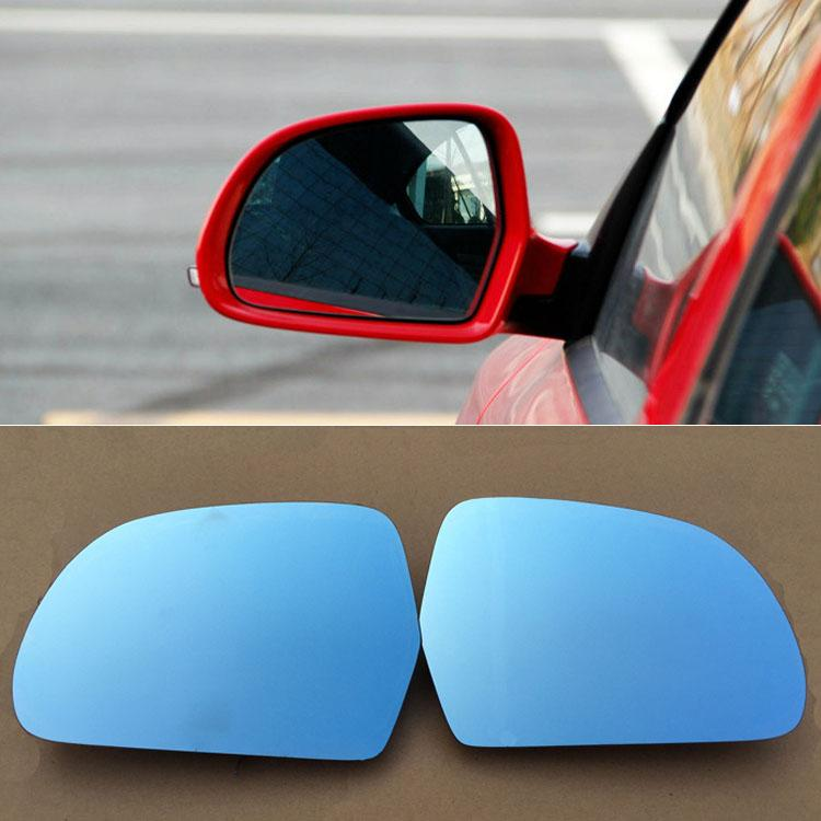 For Skoda Octavia 2013-2014 Car Rearview Mirror Wide Angle Hyperbola Blue Mirror Arrow LED Turning Signal Lights