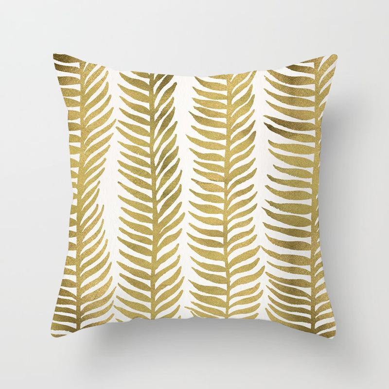 Golden Leaf Imprimir Carta fronha decorativa PineappleCouch Sofá Throw Pillow Capa de Almofada Home Decor Bed Sala