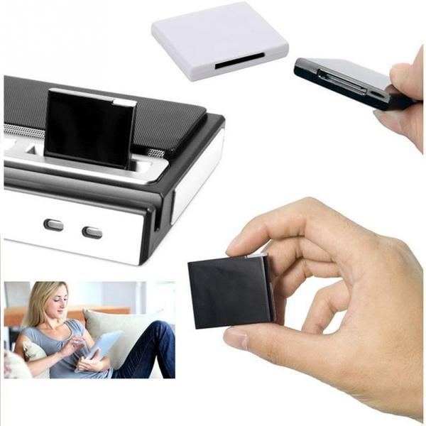 100 pieces Exquisite Bluetooth Music Audio 30 Pin Receiver Adapter For iPhone Dock Speaker