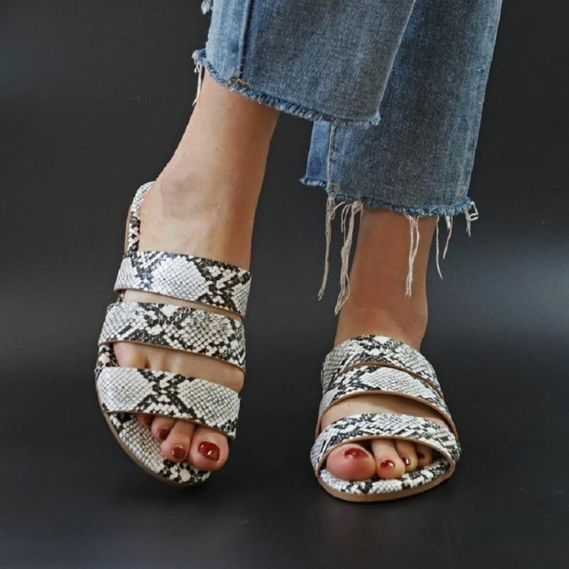 Hausschuhe Slipper Schuhe Frauen Sommer 2021 Serpentine Beach Folien Beiläufige weibliche Plattform für 42 Größe