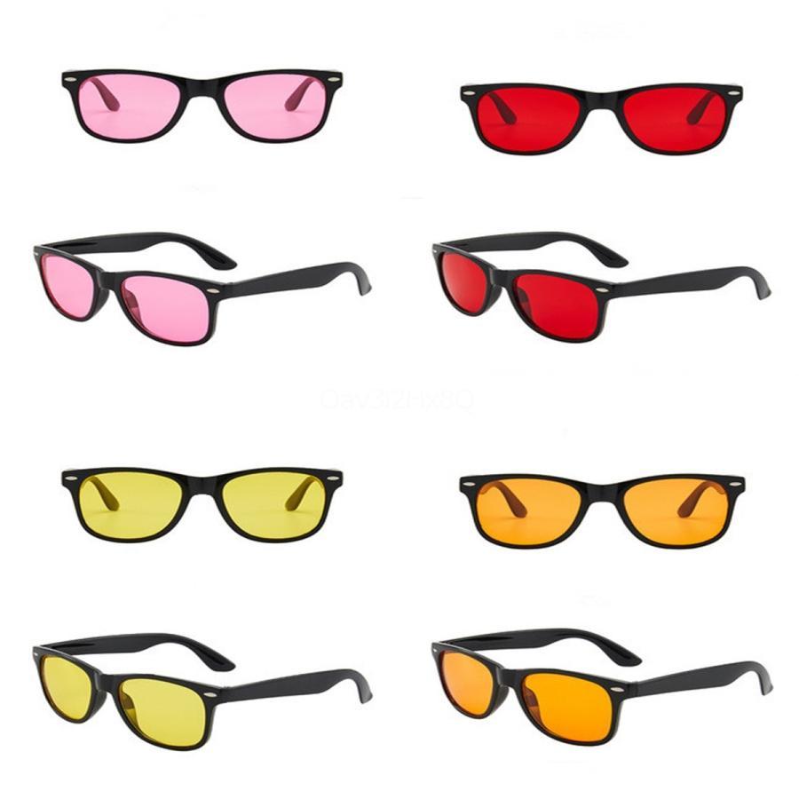 Regalo infantil lindo Pixel gafas de sol de la tela escocesa de Sqre Ay Gafas de sol Gafas de sol del desgaste de protección radiológica D Resina Gafas # 952