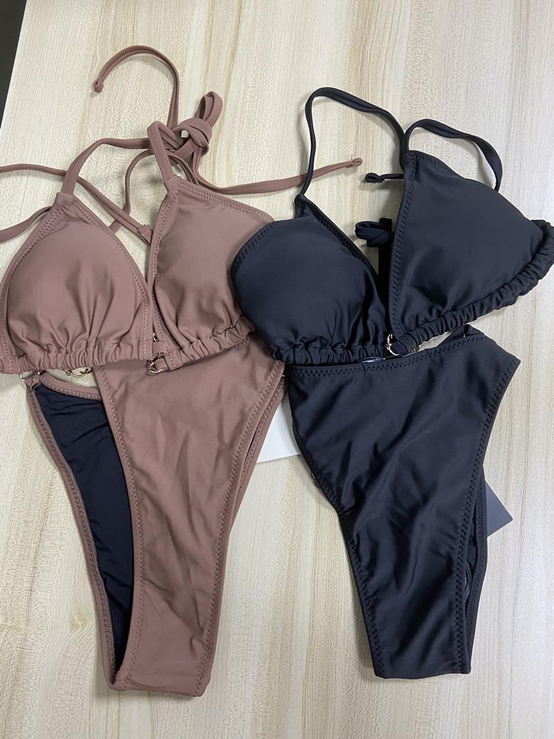 Seksi Kadınlar Yaz Mayo Bikini Set Sutyen Üçgen Suit Mayo Mayo Yüzme Takım Elbise