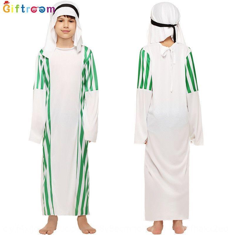 Jppvg Halloween männliche Kinder männliche Kleidung Arab Co Maskerade Kleidung Chef Aladdin magische Laterne Prinz Kleidung Matching