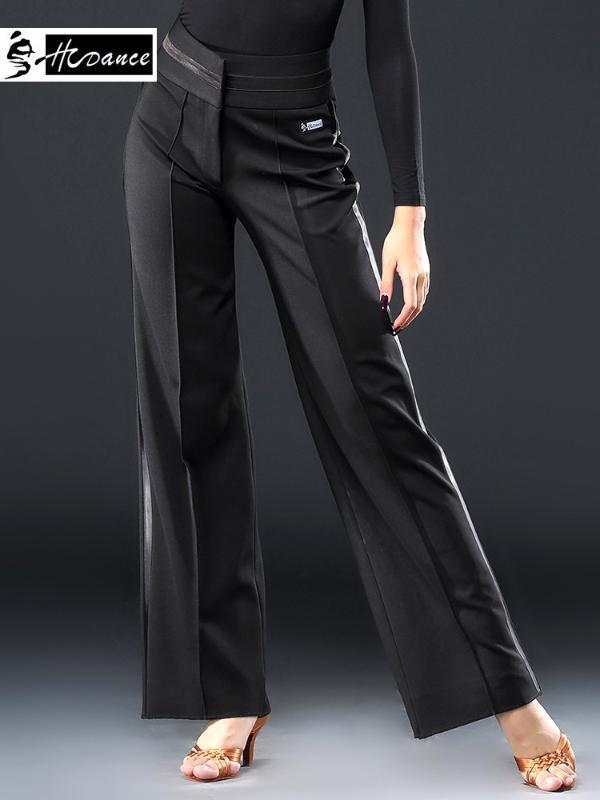Sahne Giyim 2021 HCDANCE Marka 1 Renk Latin Dans Pantolon Siyah Flamengo Salsa Samba Tango Balo Salonu Yarışması Elbise A2050