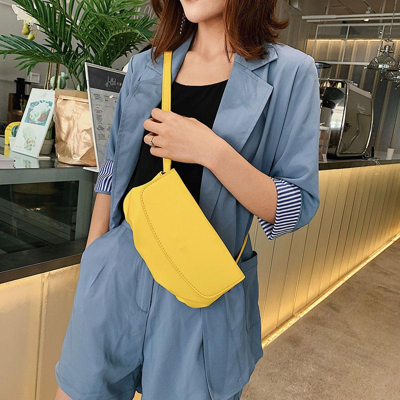 Chic Chest сумка корейского Раскладушка мешок мешок плечо леди Нового Ins Пельмени Crossbody для женщин