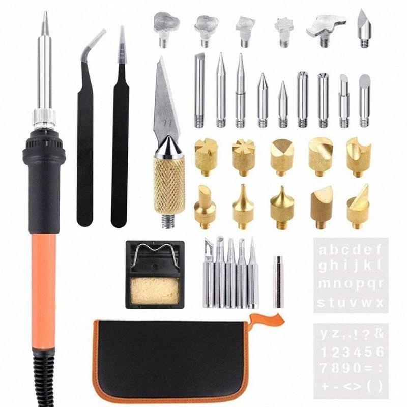 29Pcs 31Pcs 40 шт / комплект Регулируемая температура гравировки паяльник, резьба и покраска набор инструментов I4om #